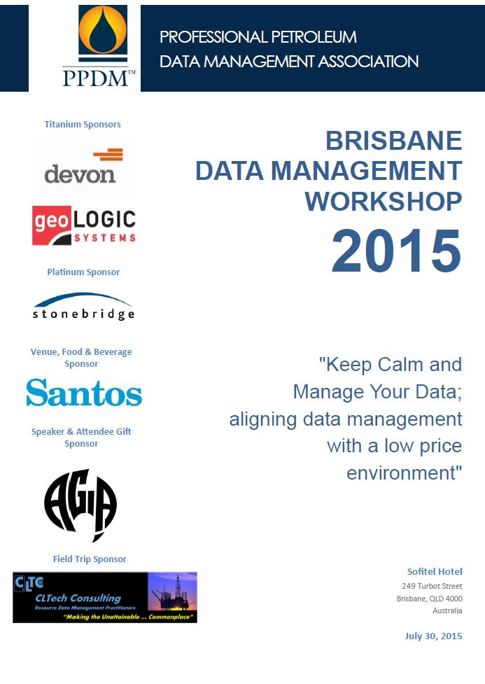 SCHEDULE - 2015 Brisbane Data Management Workshop